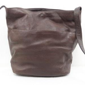 [Tignanello] Brown Leather Crossbody Purse Bag